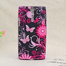Coque Sony Xperia S LT26i Papillon Silicone Housse Gel - Noire