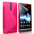 Coque Sony Xperia S LT26i S-Line Silicone Gel Housse - Rose Chaud