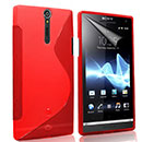 Coque Sony Xperia S LT26i S-Line Silicone Gel Housse - Rouge