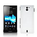 Coque Sony Xperia Sola MT27i Plastique Etui Rigide - Blanche