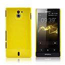 Coque Sony Xperia Sola MT27i Plastique Etui Rigide - Jaune
