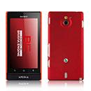 Coque Sony Xperia Sola MT27i Plastique Etui Rigide - Rouge