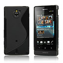 Coque Sony Xperia Sola MT27i S-Line Silicone Gel Housse - Noire