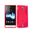 Coque Sony Xperia Sola MT27i S-Line Silicone Gel Housse - Rose Chaud