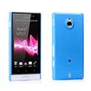 Coque Sony Xperia Sola MT27i Ultrathin Plastique Etui Rigide - Bleu