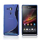 Coque Sony Xperia SP M35H S-Line Silicone Gel Housse - Bleu