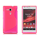 Coque Sony Xperia SP M35H S-Line Silicone Gel Housse - Rose Chaud