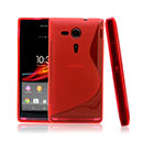 Coque Sony Xperia SP M35H S-Line Silicone Gel Housse - Rouge