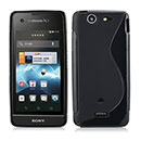 Coque Sony Xperia SX MT28i S-Line Silicone Gel Housse - Noire