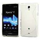 Coque Sony Xperia T LT30P S-Line Silicone Gel Housse - Clear