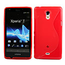 Coque Sony Xperia T LT30P S-Line Silicone Gel Housse - Rouge