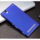 Coque Sony Xperia T2 Ultra XM50h Plastique Etui Rigide - Bleu