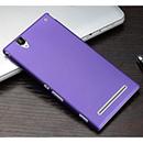 Coque Sony Xperia T2 Ultra XM50h Plastique Etui Rigide - Pourpre