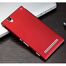 Coque Sony Xperia T2 Ultra XM50h Plastique Etui Rigide - Rouge