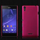 Coque Sony Xperia T3 Plastique Etui Rigide - Rose Chaud