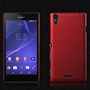 Coque Sony Xperia T3 Plastique Etui Rigide - Rouge