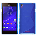 Coque Sony Xperia T3 S-Line Silicone Gel Housse - Bleu