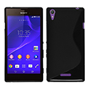 Coque Sony Xperia T3 S-Line Silicone Gel Housse - Noire