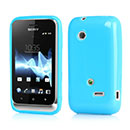 Coque Sony Xperia Tipo Dual ST21i2 Silicone Gel Housse - Bleue Ciel