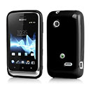 Coque Sony Xperia Tipo Dual ST21i2 Silicone Gel Housse - Noire