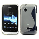 Coque Sony Xperia Tipo ST21i S-Line Silicone Gel Housse - Blanche