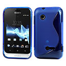 Coque Sony Xperia Tipo ST21i S-Line Silicone Gel Housse - Bleue Ciel
