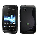 Coque Sony Xperia Tipo ST21i S-Line Silicone Gel Housse - Noire