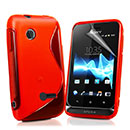 Coque Sony Xperia Tipo ST21i S-Line Silicone Gel Housse - Rouge