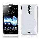 Coque Sony Xperia TX LT29i S-Line Silicone Gel Housse - Blanche