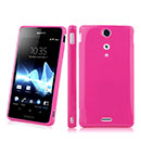 Coque Sony Xperia TX LT29i Silicone Gel Housse - Rose Chaud