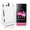 Coque Sony Xperia U ST25i Plastique Etui Rigide - Blanche