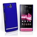 Coque Sony Xperia U ST25i Plastique Etui Rigide - Bleu
