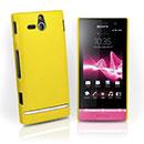 Coque Sony Xperia U ST25i Plastique Etui Rigide - Jaune