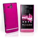Coque Sony Xperia U ST25i Plastique Etui Rigide - Rose Chaud