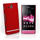 Coque Sony Xperia U ST25i Plastique Etui Rigide - Rouge