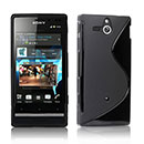 Coque Sony Xperia U ST25i S-Line Silicone Gel Housse - Noire