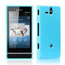 Coque Sony Xperia U ST25i Silicone Gel Housse - Bleu