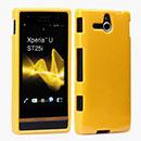 Coque Sony Xperia U ST25i Silicone Gel Housse - Jaune