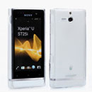 Coque Sony Xperia U ST25i Silicone Transparent Housse - Blanche