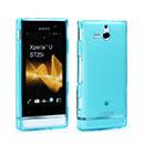 Coque Sony Xperia U ST25i Silicone Transparent Housse - Bleue Ciel