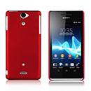 Coque Sony Xperia V LT25i Plastique Etui Rigide - Rouge