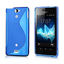 Coque Sony Xperia V LT25i S-Line Silicone Gel Housse - Bleue Ciel