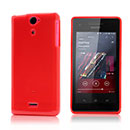 Coque Sony Xperia V LT25i Silicone Gel Housse - Rouge