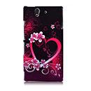 Coque Sony Xperia Z L36H Amour Plastique Etui Rigide - Pourpre