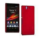 Coque Sony Xperia Z L36H Plastique Etui Rigide - Rouge