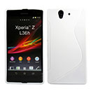 Coque Sony Xperia Z L36H S-Line Silicone Gel Housse - Blanche