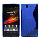 Coque Sony Xperia Z L36H S-Line Silicone Gel Housse - Bleu