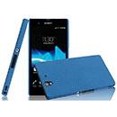 Coque Sony Xperia Z L36H Sables Mouvants Etui Rigide - Bleu