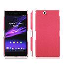 Coque Sony Xperia Z Ultra XL39h Sables Mouvants Etui Rigide - Rose