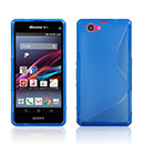 Coque Sony Xperia Z1 Compact Mini S-Line Silicone Gel Housse - Bleu